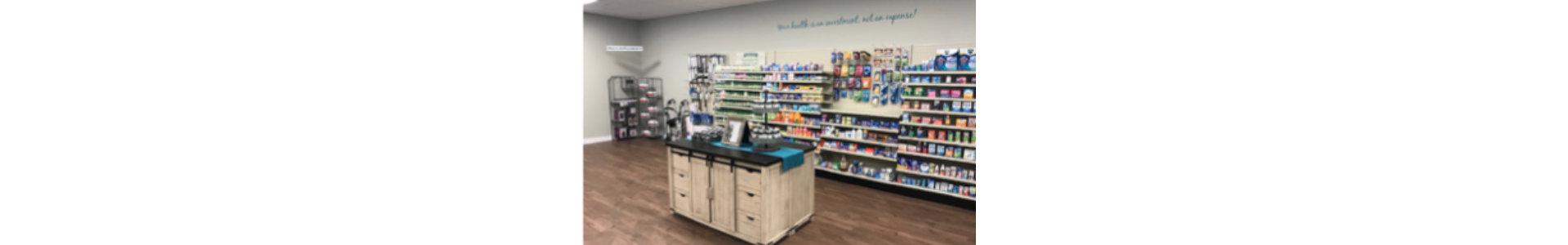 the prescription cashier counter